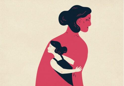 Mujer luchando contra su ego