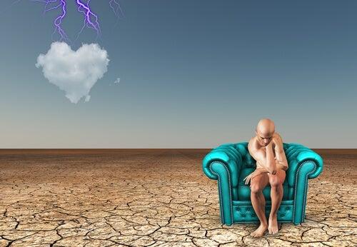 Gestionar emociones, hombre pensando