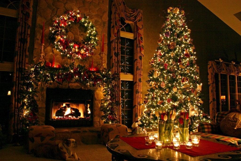 Decoración de una casa en Navidad