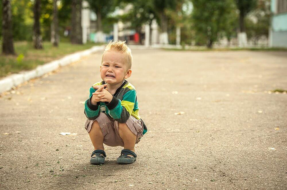 Niño con baja tolerancia a la frustración