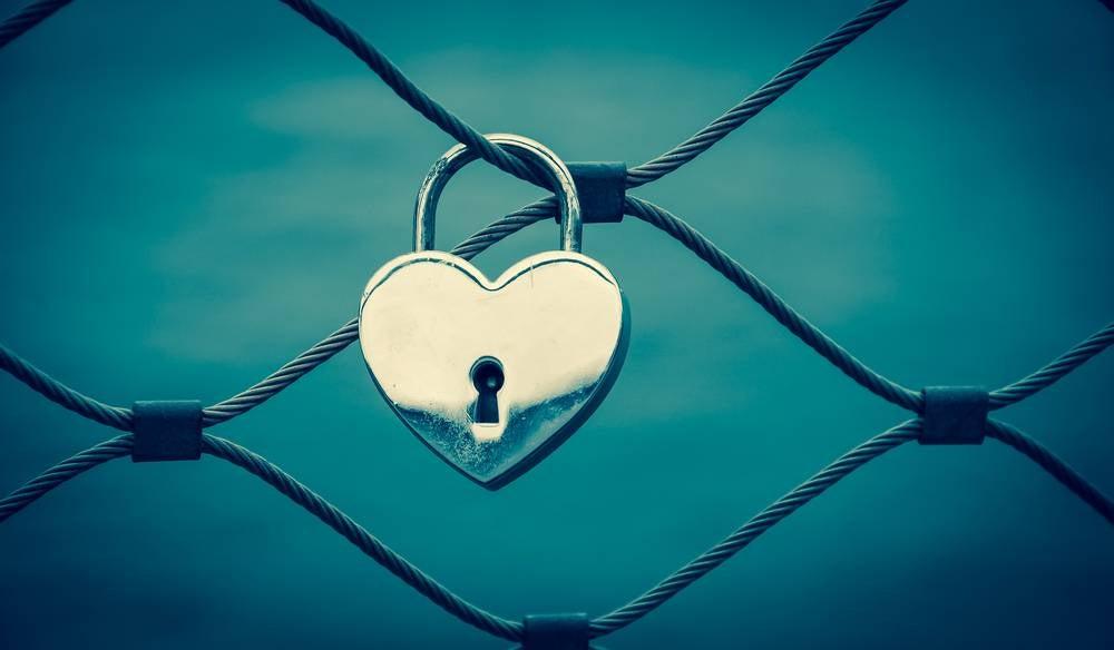 Candado con forma de corazón