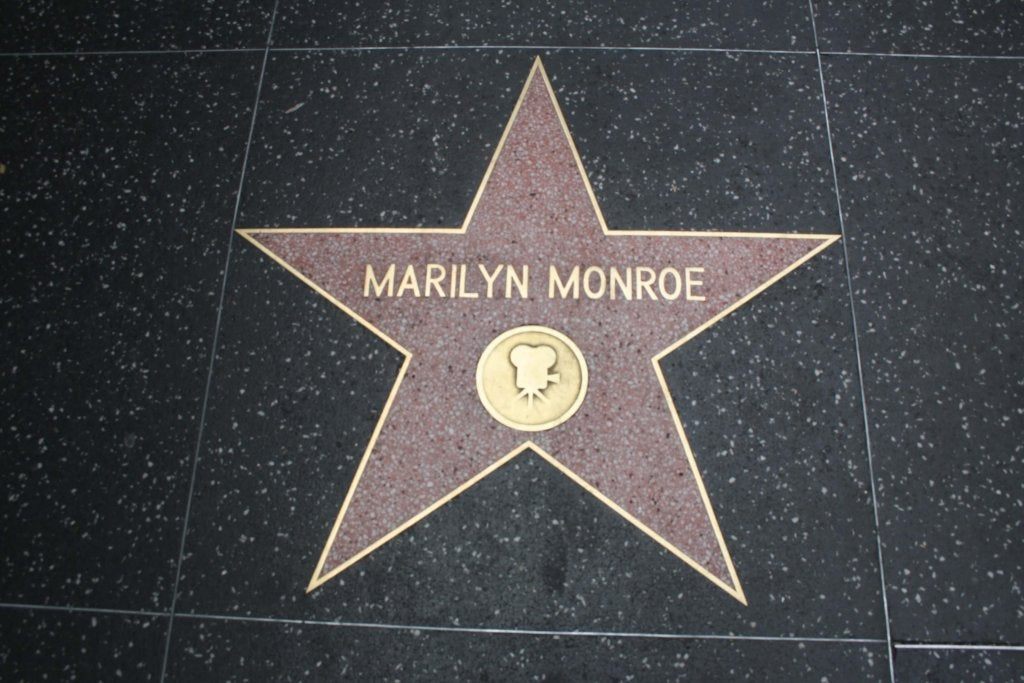 Estrella Hollywood de Marilyn Monroe
