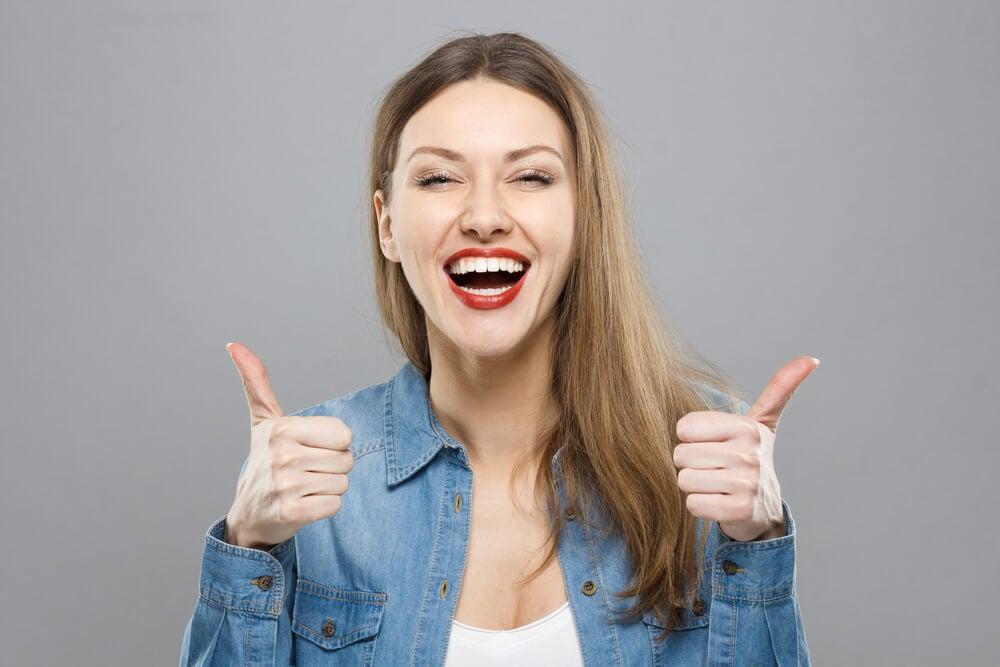 Mujer optimista