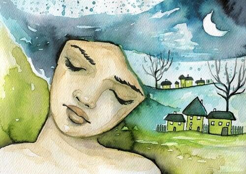 Mujer soñando con un cambio en la vida