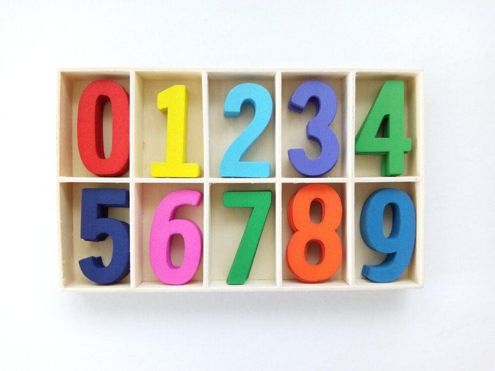 Números de colores