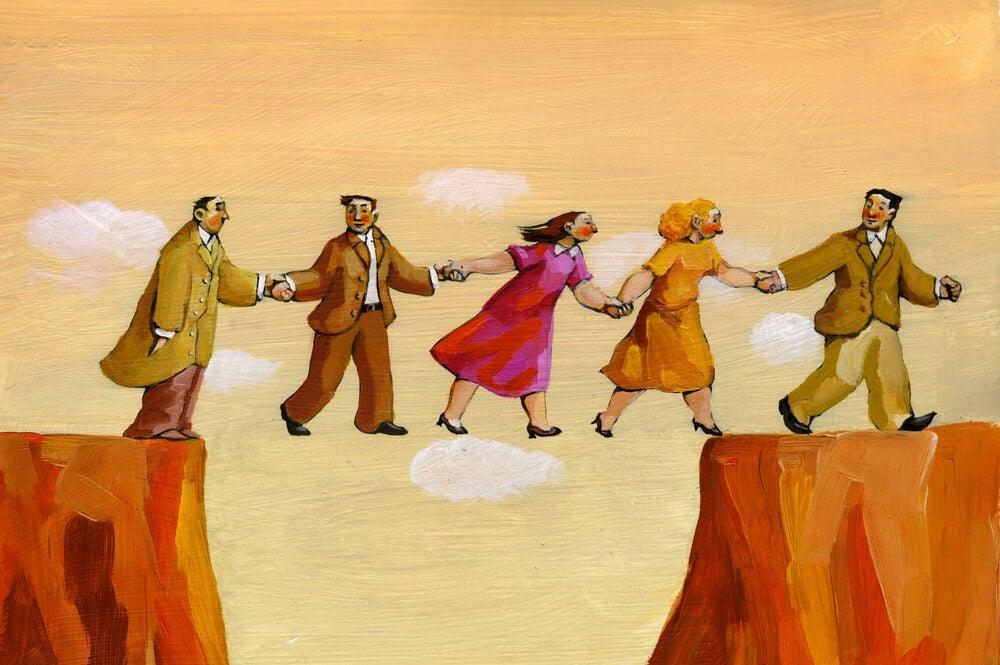 personas confiando las unas en las otras