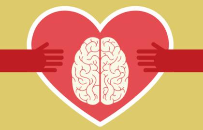 Corazón con cerebro reflejando inteligencia emocional