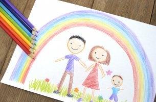 dibujo de la familia hecho por un niño