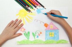 Dibujo de la familia en un niño de 2 años