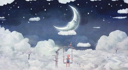 Niño entre nubes