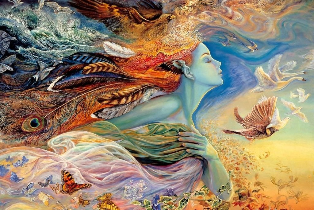 Mujer pensando en sus sueños