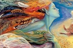 Mujer pensando en el destino