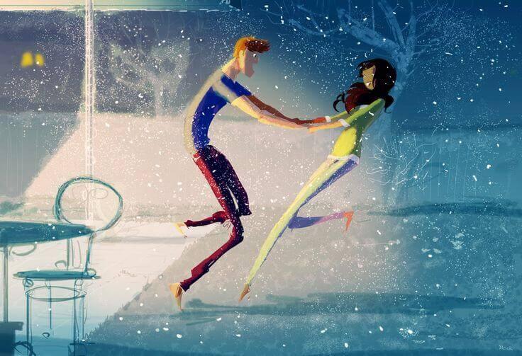 PAraja bailando y mostrando cómo nos enamoramos