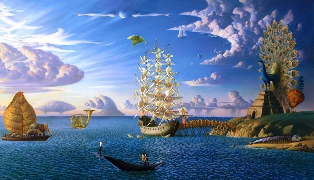 barcos representando las frases que describen el inconsciente