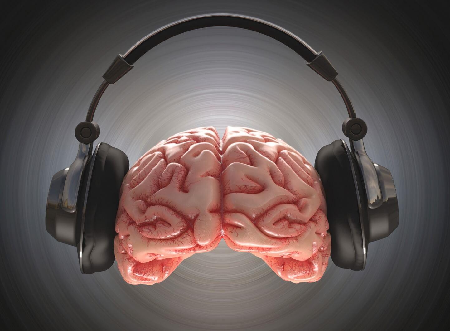 Cerebro cascos música
