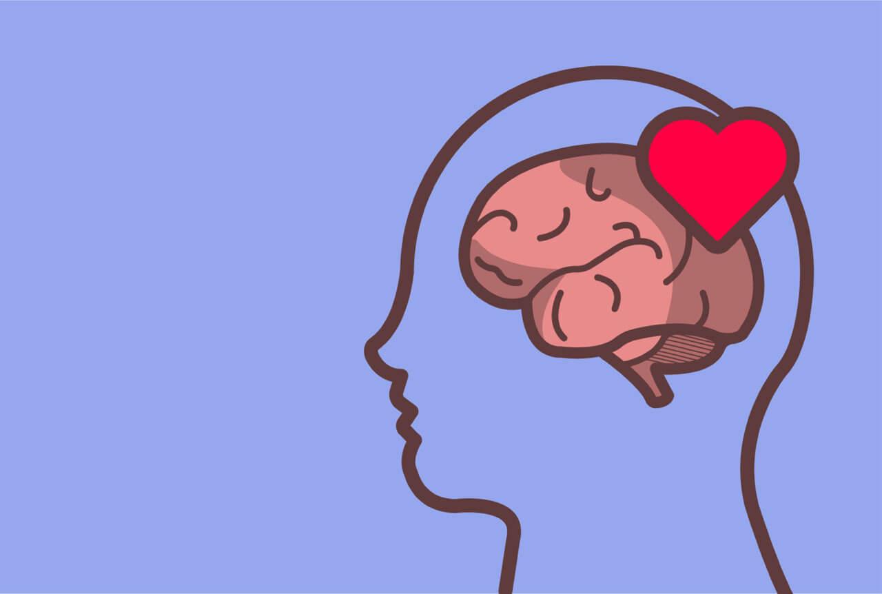 Cerebro con corazón representando las técnicas efectivas de control emocional