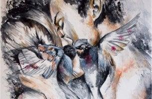 Beneficios de los besos, pareja besándose
