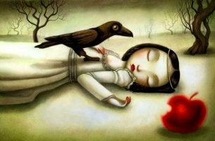 Ilustración sobre el síndrome de Blancanieves