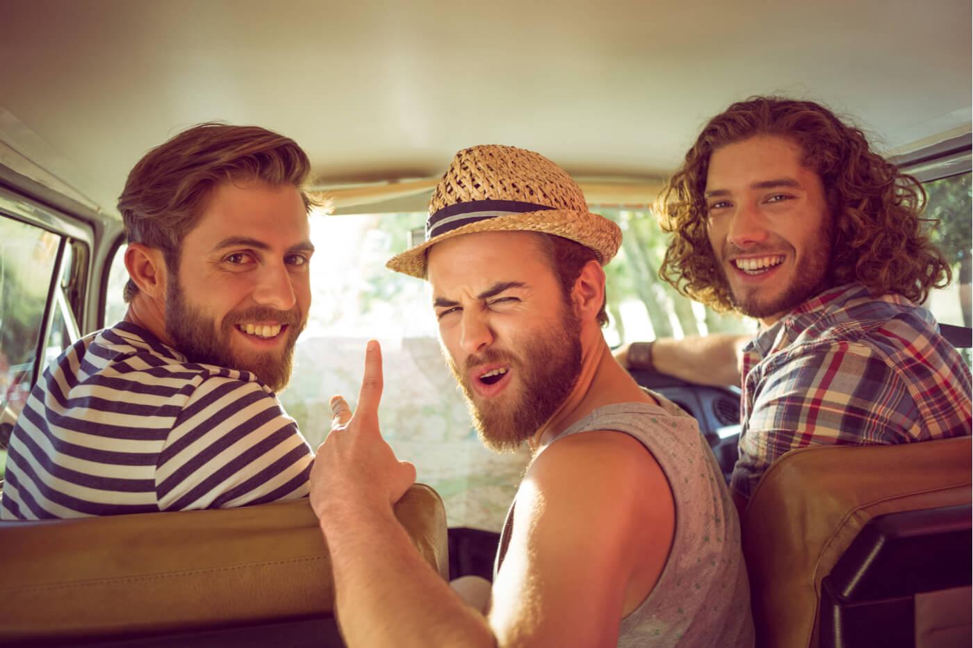 Amigos viaje verano