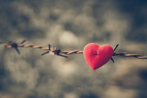 corazón en espino herido por la ira