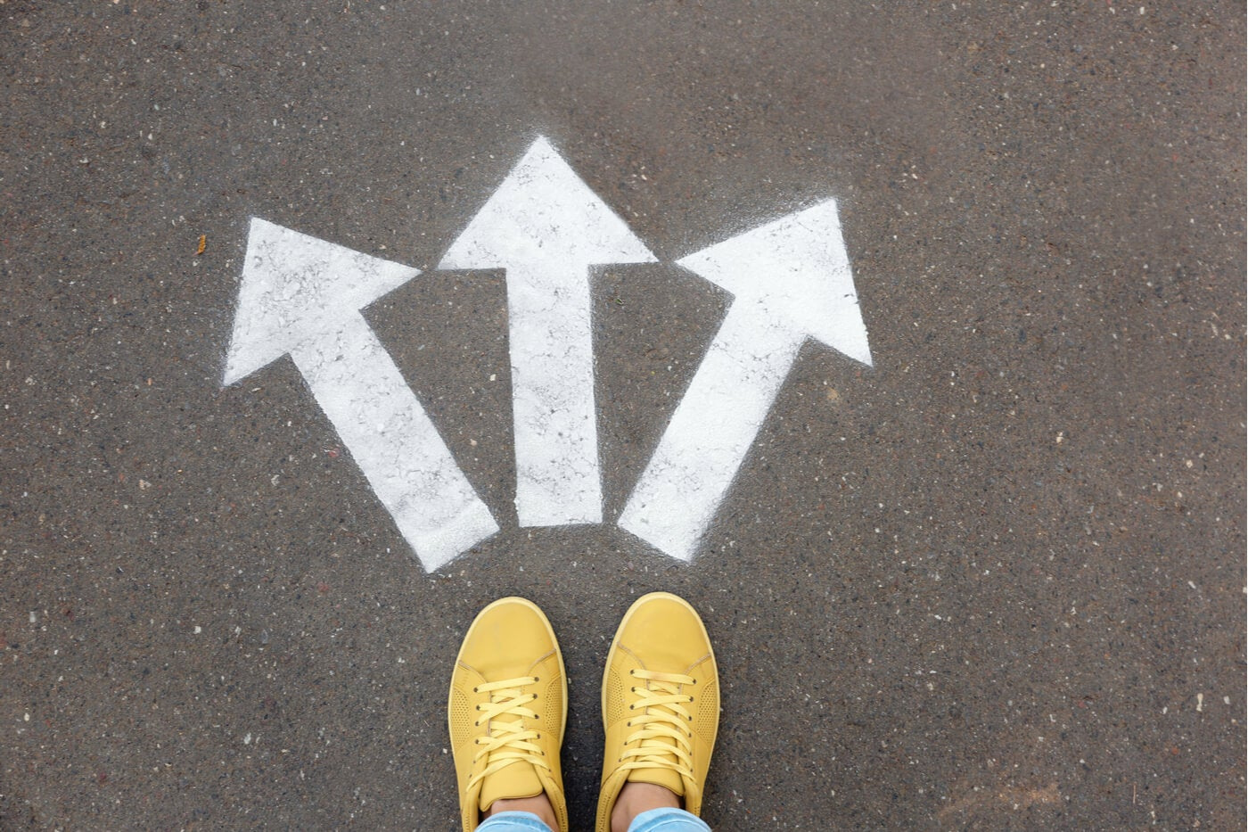 flechas dirección camino