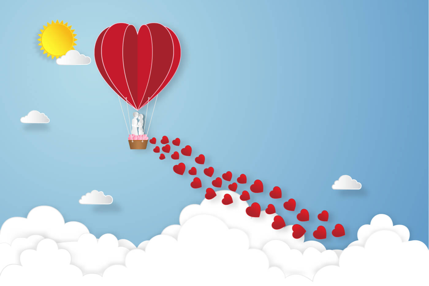 globos papel corazon amor