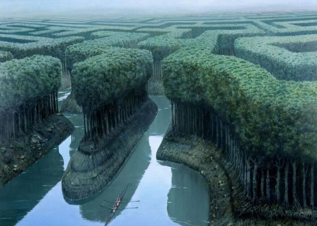 Laberinto de árboles significando libertad de elegir