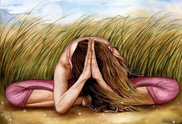Mujer haciendo mindfulness