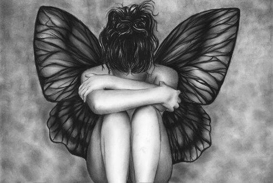 Hada triste con un vacío en el corazón