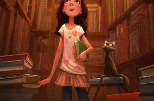 Niña con un libro,e jemplod e fomentar la lectura en los niños