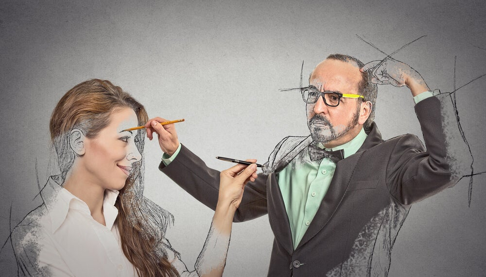 pareja idealizándose