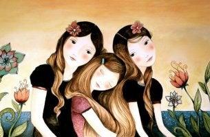 Tres chicas juntas