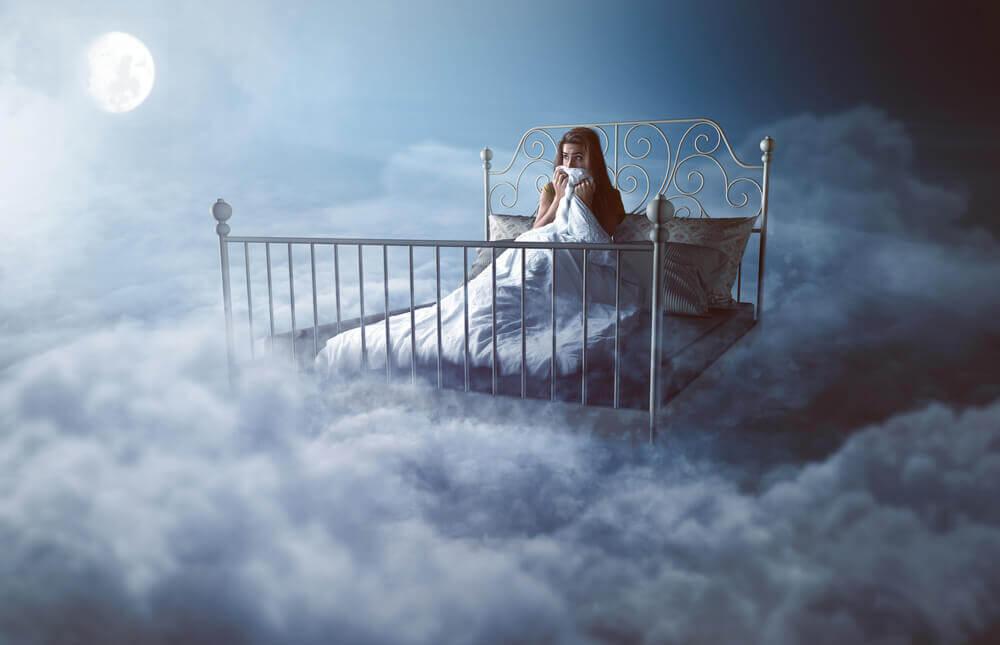 Mujer dificultad dormir