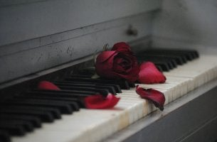 Rosa marchita simbolizando el síndrome del corazón roto