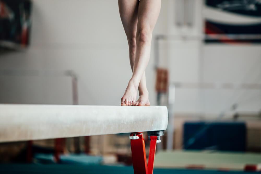 Gimnasta equilibrio
