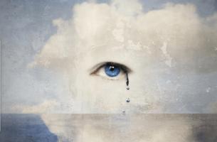 Lágrima representando vulnerabildiad emocional