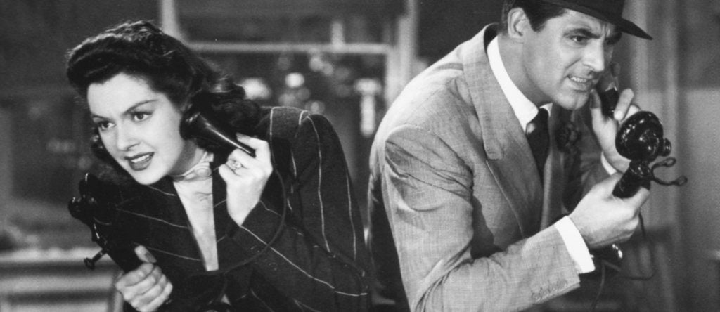Gary Grant and Rosalinf Russell in His Girl Friday