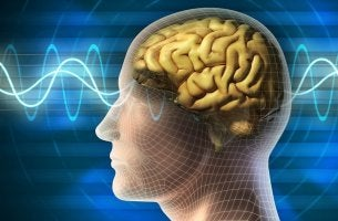 Cerebro emitiendo ondas alfa