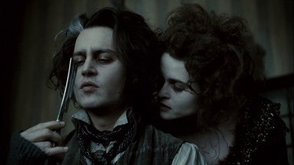 Johnny Depp en Sweeney Todd