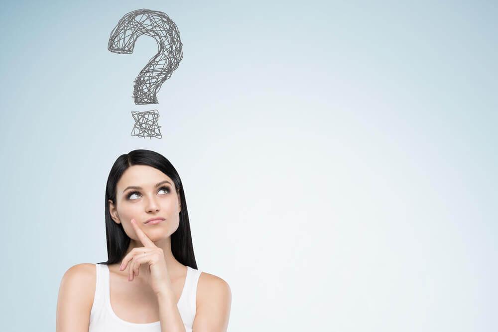 Mujer con pregunta