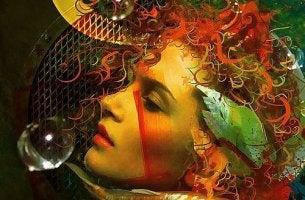 Mujer enseñando el alma en la mirada