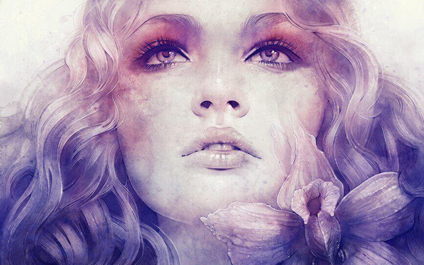 Mujer mostrando el alma en la mirada