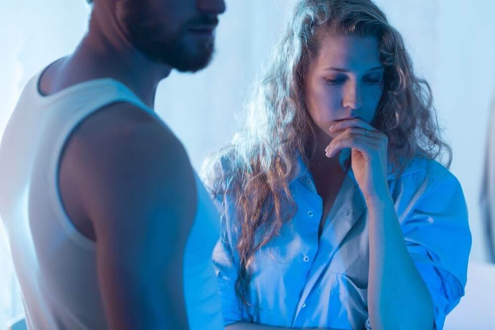 Mujer sin el apoyo de su pareja