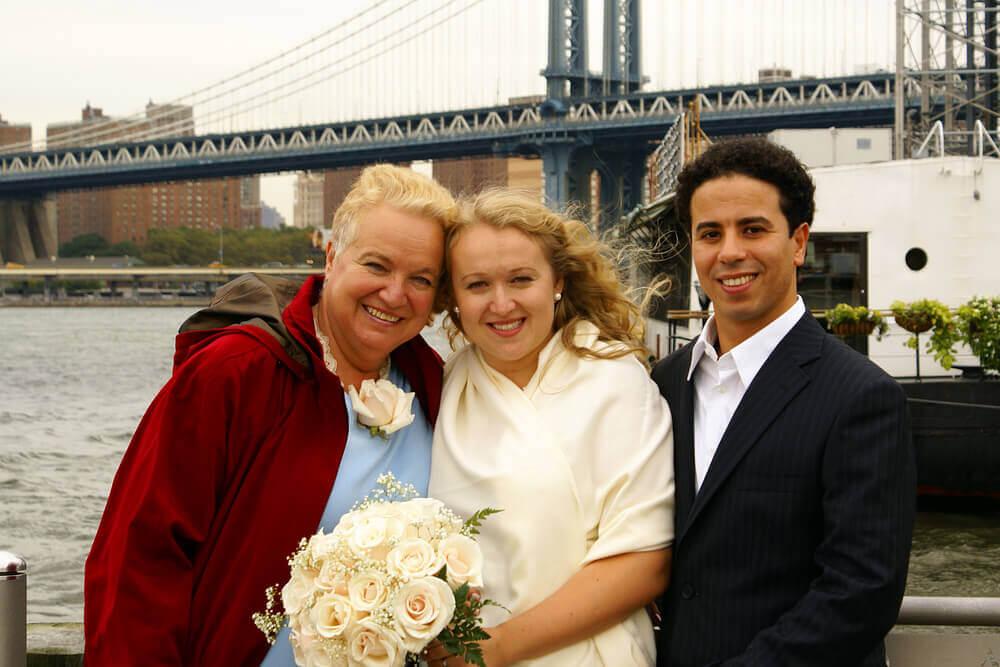 Foto de boda con familia política
