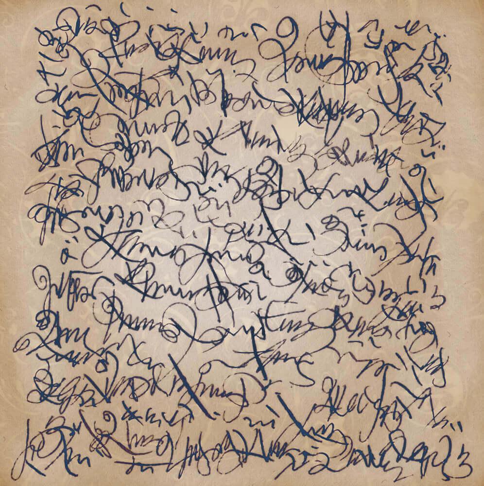 Garabatos por escribir a mano