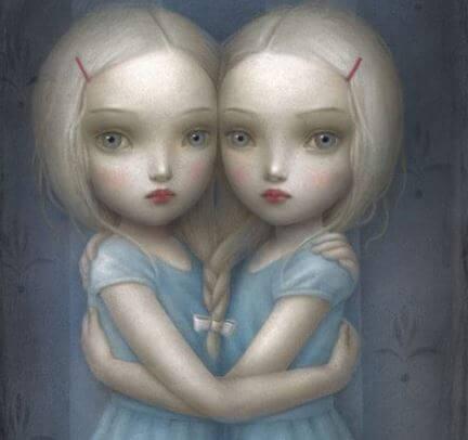 Yo soy yo, gemelas abrazándose
