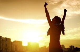 Mujer con motivación y pasión