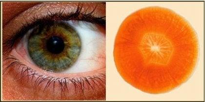 zanahoria y ojo