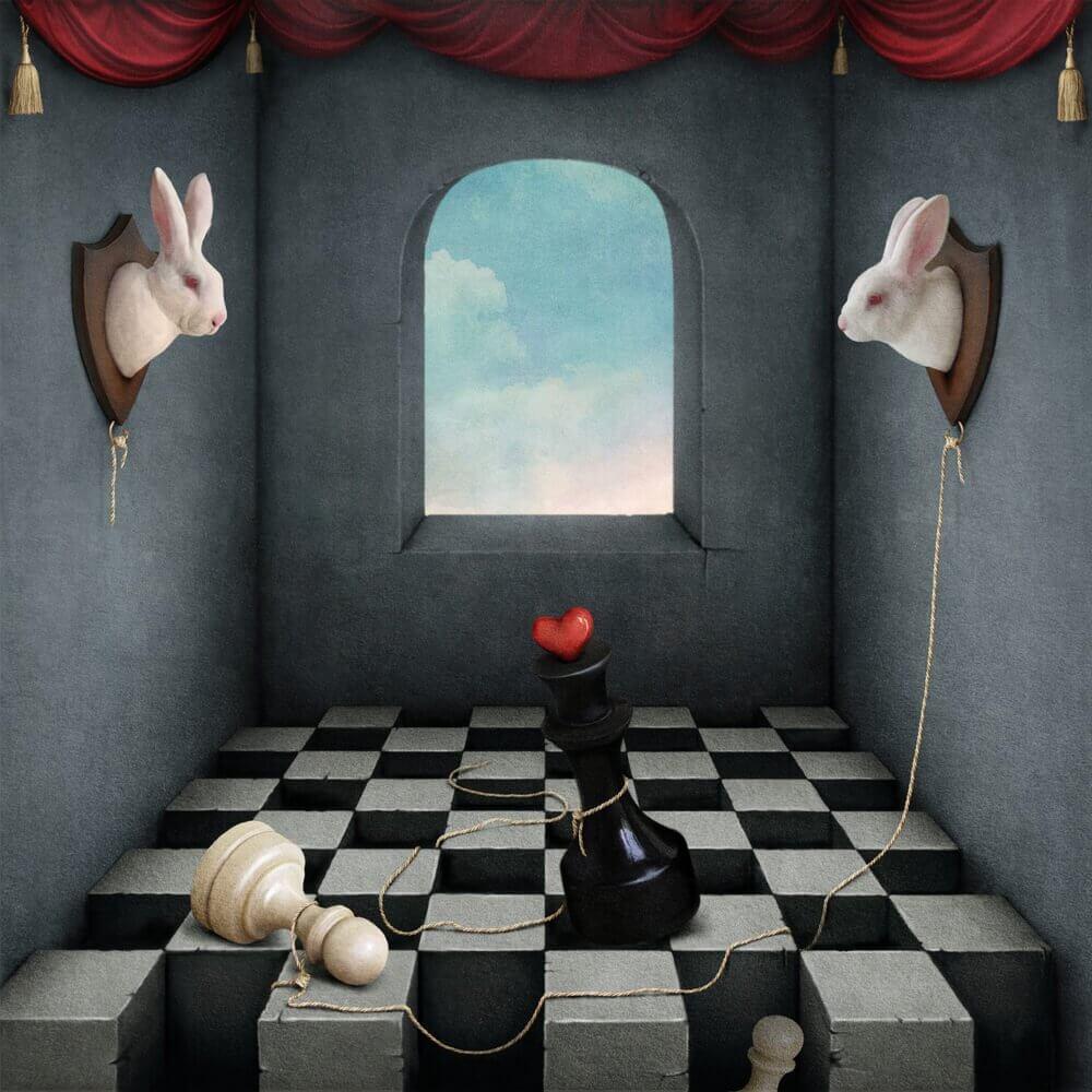 Conejo tablero de ajedrez