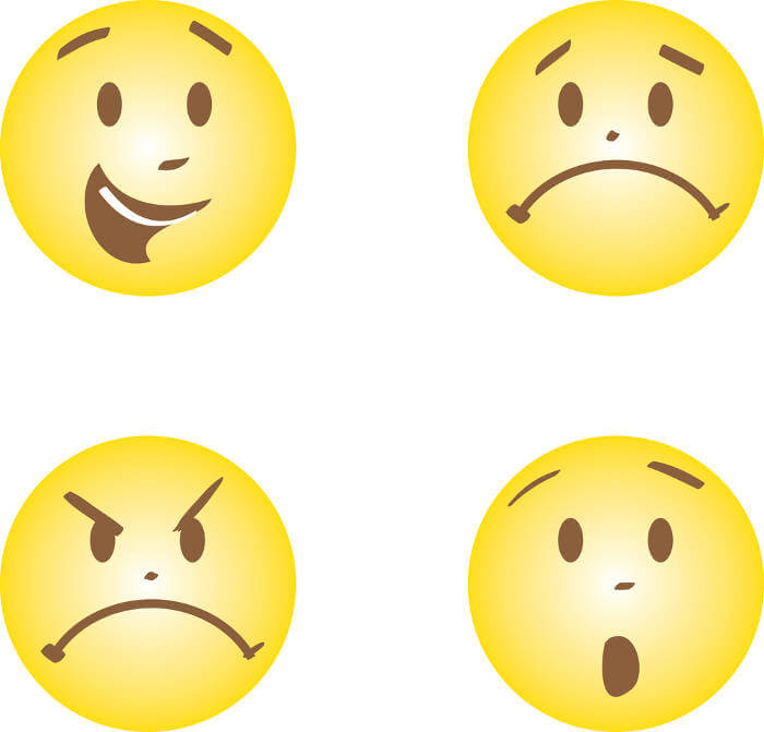 felicidad tristeza ira miedo